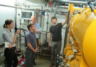 Participants of a technical visit to Germany, visiting the prototype of a otimized cooling system