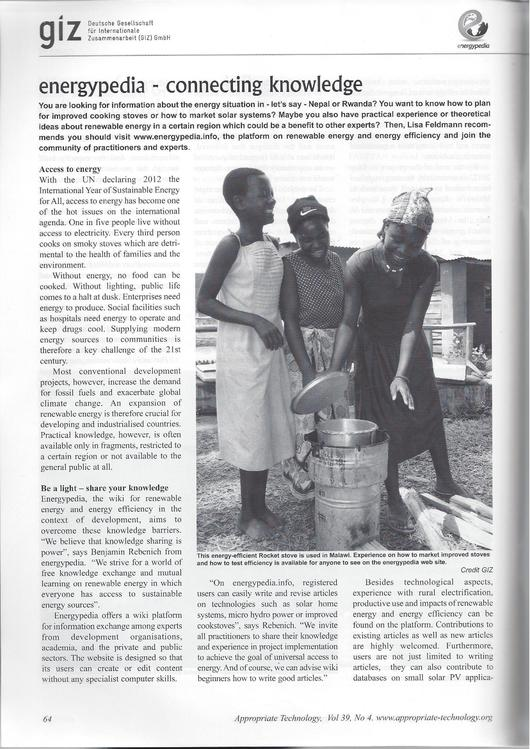 File:Article about energypedia in Appropriate Technology magazine 39(4).pdf