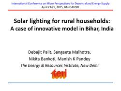 Solar lighting for Rural Households - A Case of Innovative Model in Bihar, India.pdf