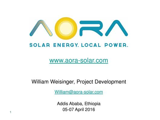 File:2. Mr William Weisinger - Solar Ethiopia, biogas hybrid.pdf