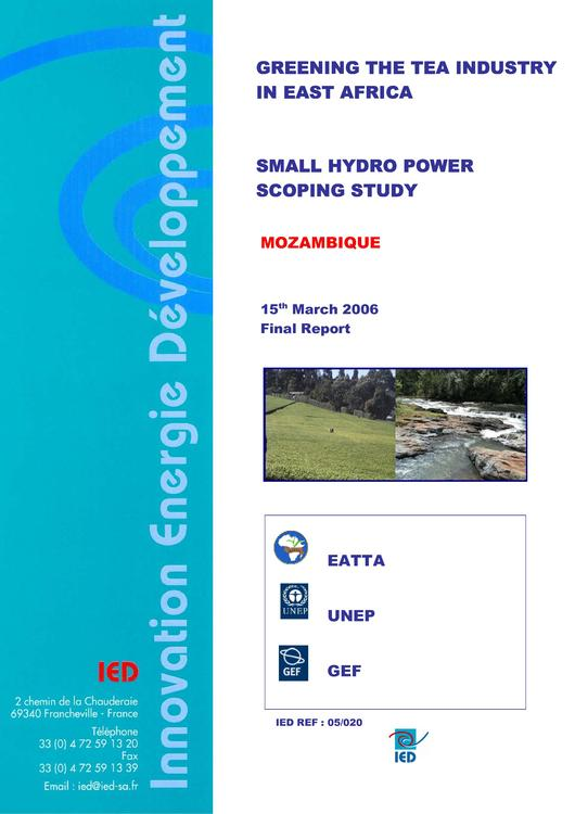 File:EN Greening the tea industry in east africa -small hydro power Scoping study Mozambique Innovation Energie Developpement.pdf