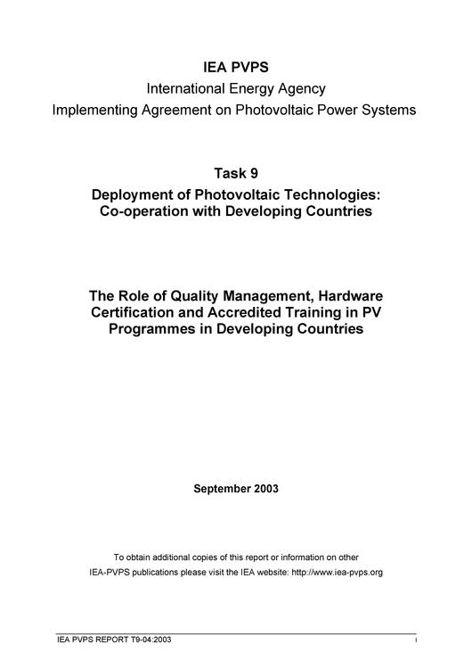 File:The Role of Quality Management, Hardware Certification and Accredited Training in PV Programmes in Developing Countries.pdf