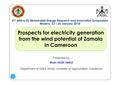Prospects for Electricity Generation from Wind Potential of Zamala in Cameroon.pdf