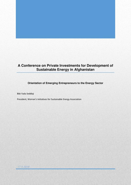 File:Private Investments for Development of Sustainable Energy in Afghanistan Event Report.pdf