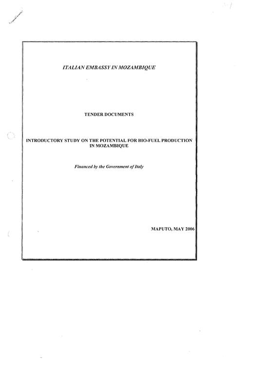 File:EN-Introductory study on the potential for Bio-fuel production in Mozambique-Italian Embassy in Mozambique.pdf